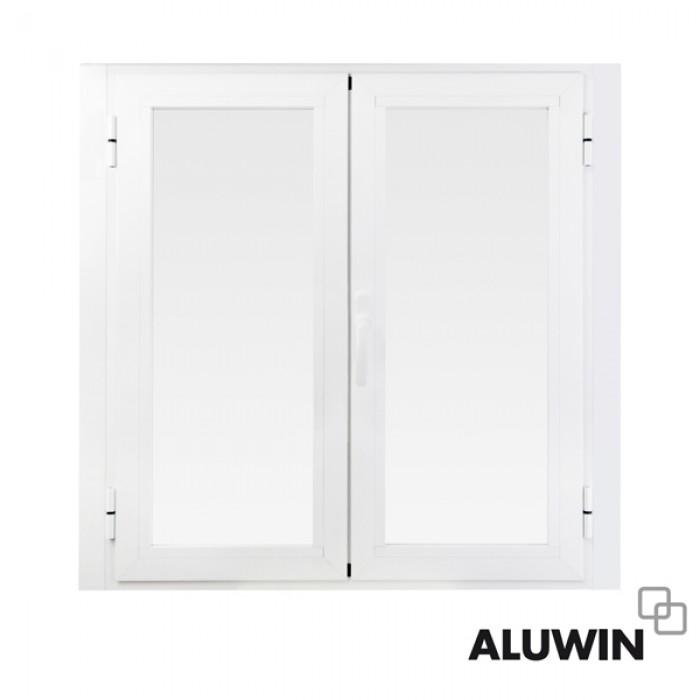 Ventana abatible dos hojas sin persiana rotura puente t rmico ventanas y puertas de aluminio - Ventanas rotura puente termico ...