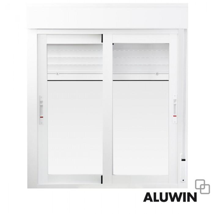 Ventana corredera con persiana ventanas y puertas de for Correderas de aluminio