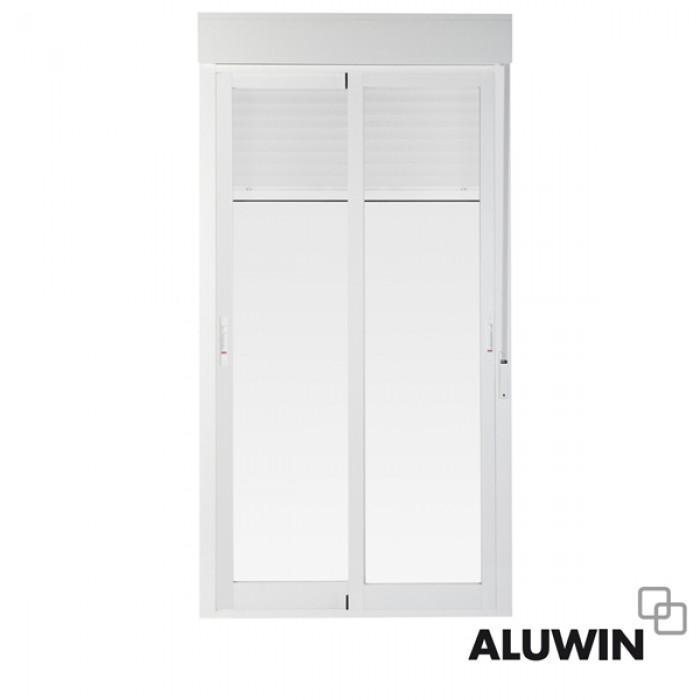 Puerta corredera con persiana ventanas tipo climalit for Ventanas de aluminio con persiana baratas